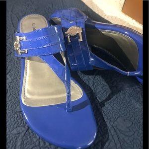 Adorable Blue Patent Sandals